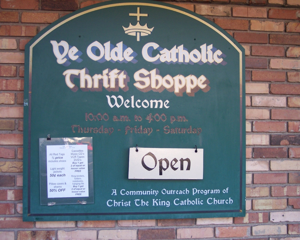 Ye Olde Catholic Thrift Shoppe