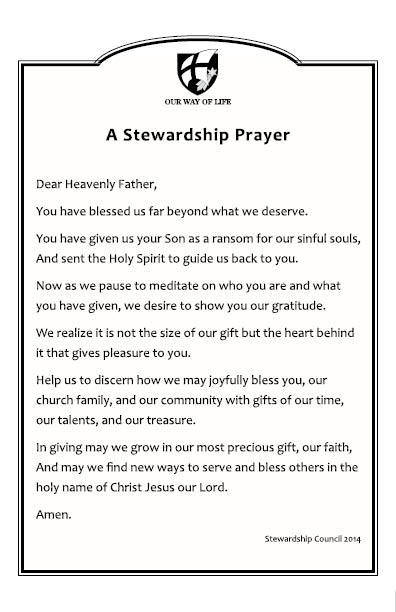 Stewardship Prayer